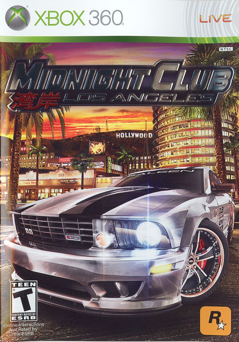 Midnight Club: Los Angeles Xbox 360 Front Cover