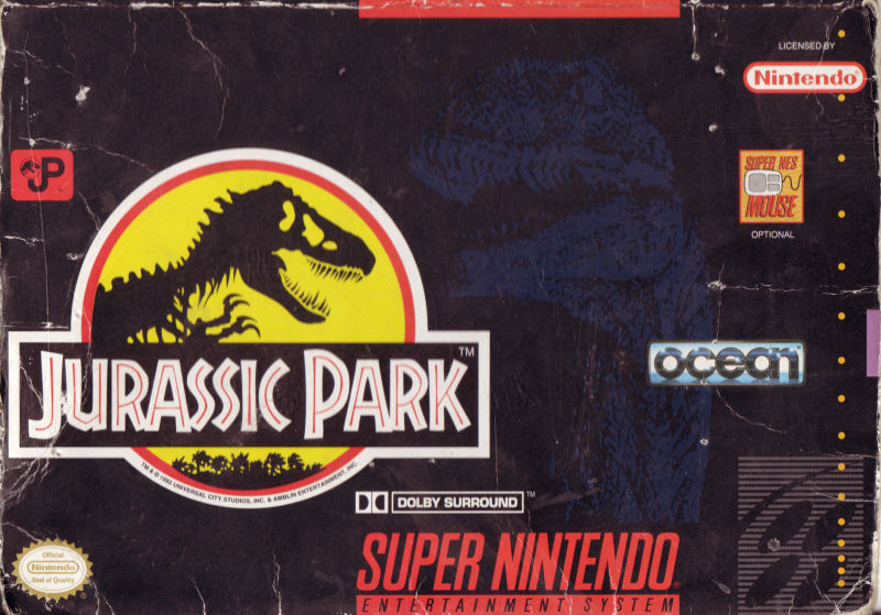 Jurassic Park SNES Front Cover