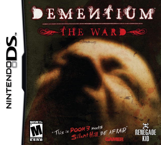 Dementium: The Ward Nintendo DS Front Cover