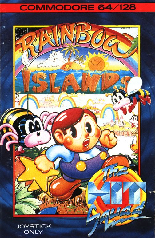 Rainbow Islands Commodore 64 Front Cover
