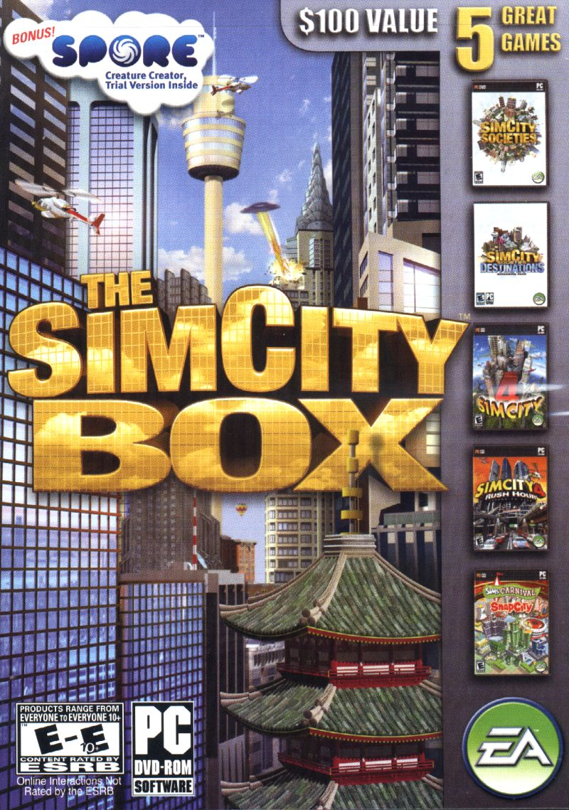 The SimCity Box Windows Front Cover