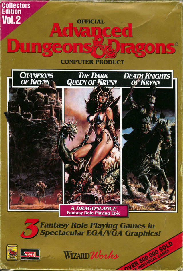 Advanced Dungeons & Dragons Collectors Edition Vol. 2 DOS Front Cover