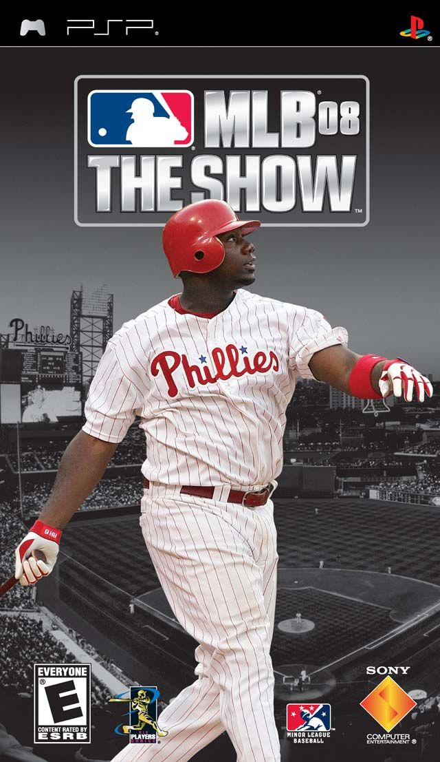 MLB 08: The Show PSP Front Cover