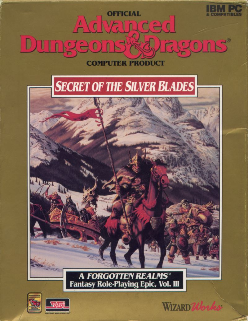 Secret of the Silver Blades DOS Front Cover