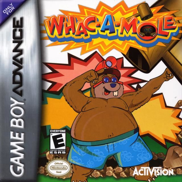 Whac-A-Mole Game Boy Advance Front Cover