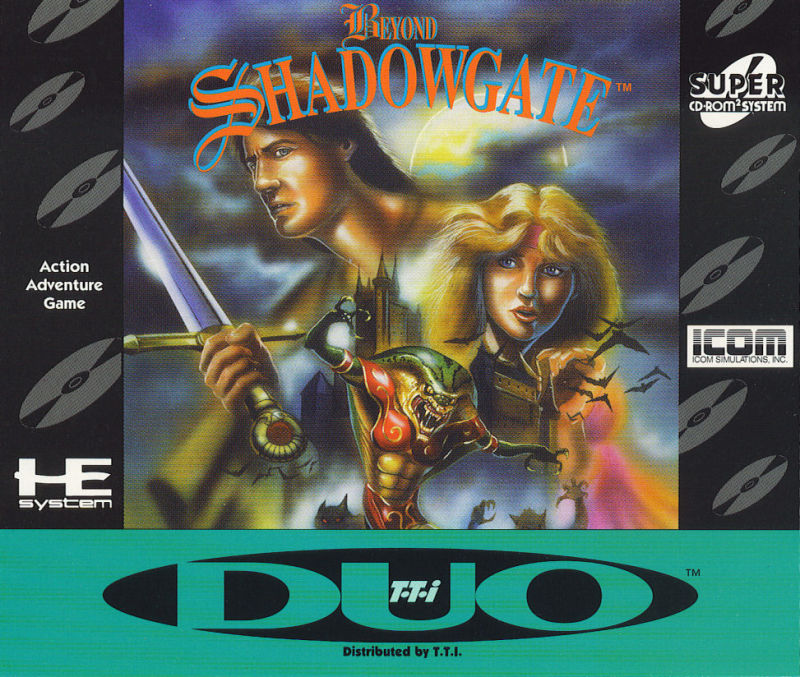 Beyond Shadowgate TurboGrafx CD Front Cover
