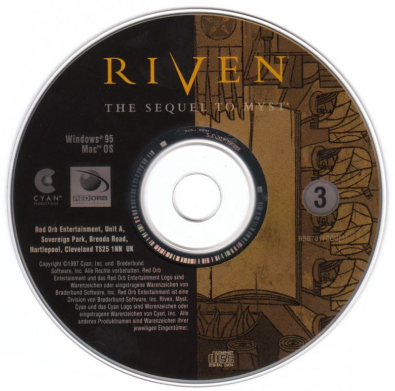 Riven: The Sequel to Myst Windows Media Disc 3