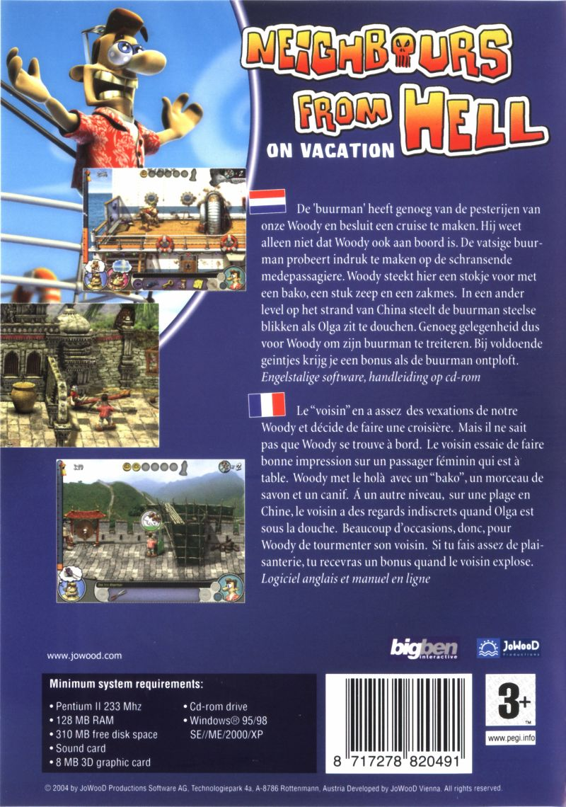 Neighbors from Hell: On Vacation Windows Back Cover