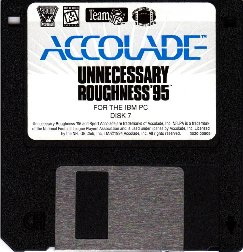 Unnecessary Roughness '95 DOS Media Disk 7/7