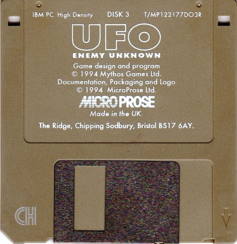 X-COM: UFO Defense DOS Media Disk 3/3