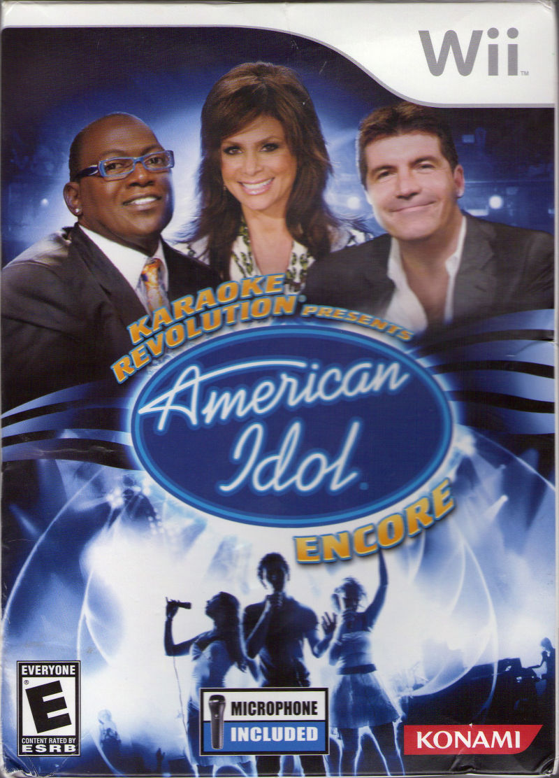 Karaoke Revolution Presents American Idol Encore Wii Front Cover