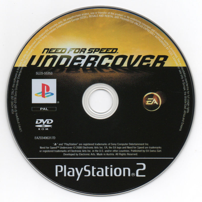 Need for Speed: Undercover PlayStation 2 Media