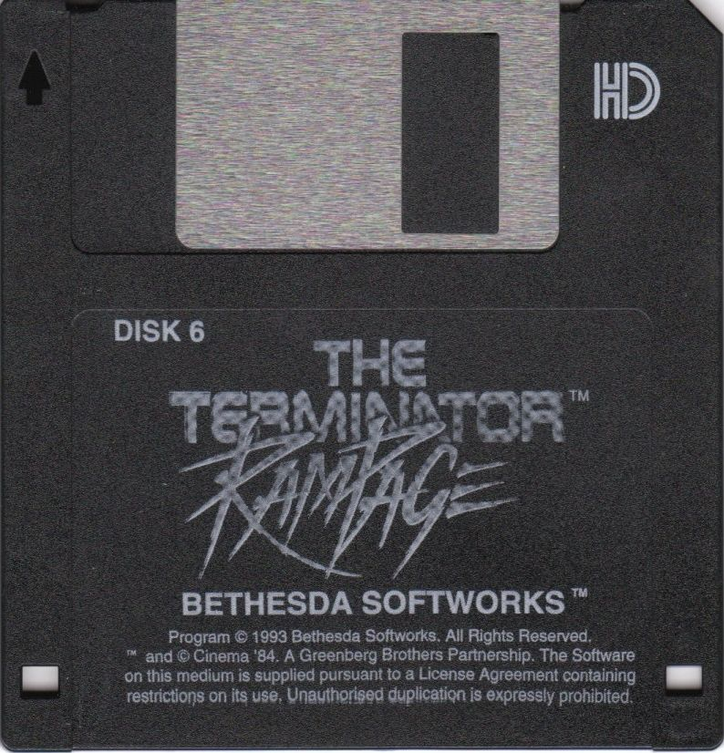 The Terminator: Rampage DOS Media Disk 6/6