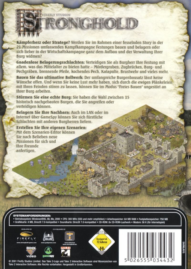 FireFly Studios' Stronghold Windows Other Keep Case (Back)