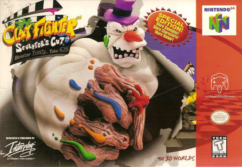 Clay Fighter: Sculptor's Cut Nintendo 64 Front Cover