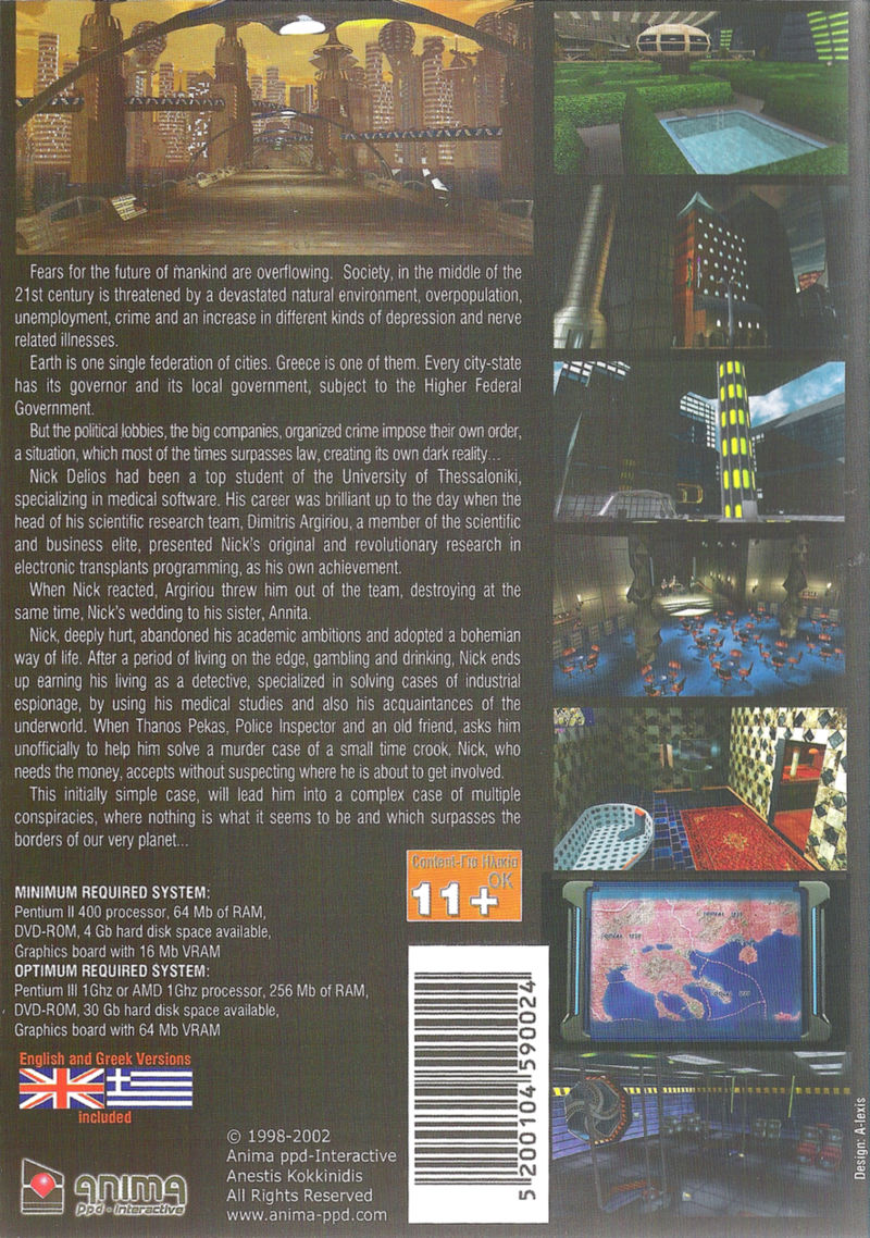 Conspiracies Windows Back Cover