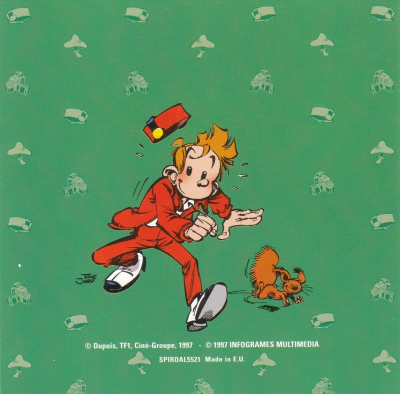 Spirou DOS Other Jewel Case - Front Inlay