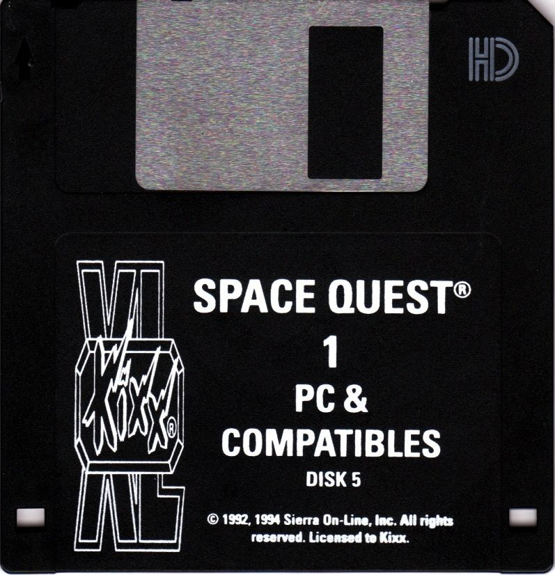 Space Quest I: Roger Wilco in the Sarien Encounter DOS Media Disk 4/4