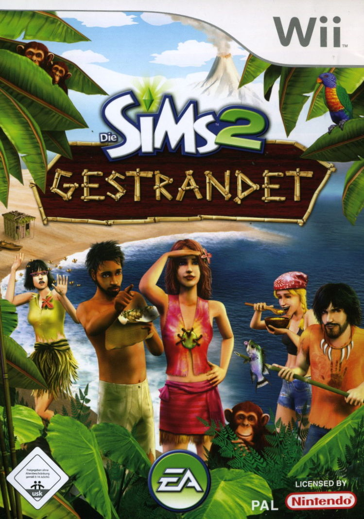 The Sims 2: Castaway Wii Front Cover