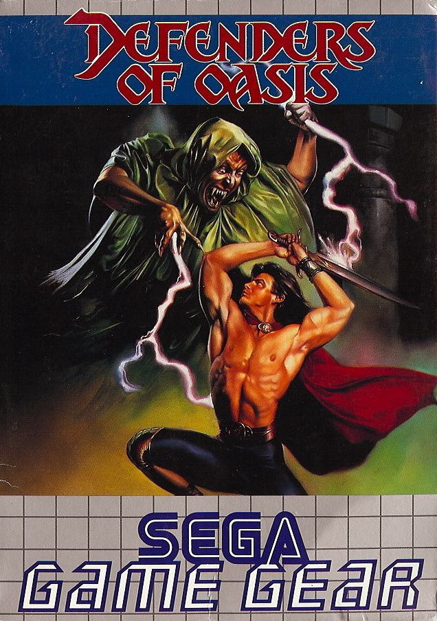 Defenders of Oasis Game Gear Front Cover