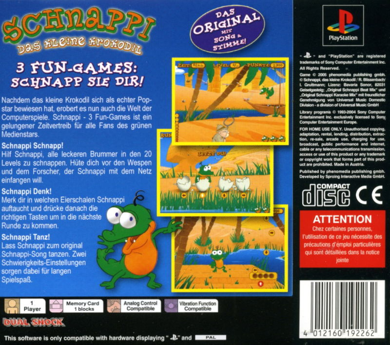 Fun Games For Ps3 : Schnappi fun games playstation box cover art