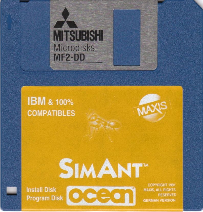 SimAnt: The Electronic Ant Colony DOS Media Install & Program Disk
