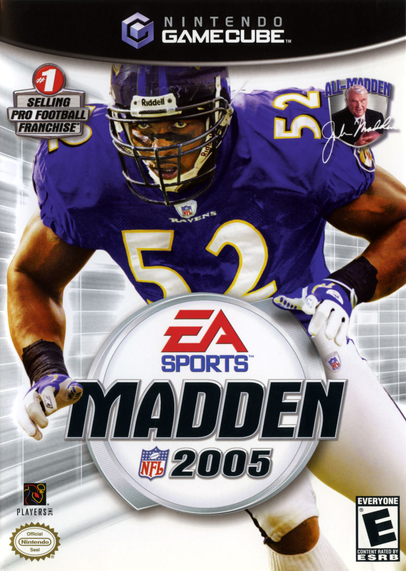 Madden NFL 2005 GameCube Front Cover