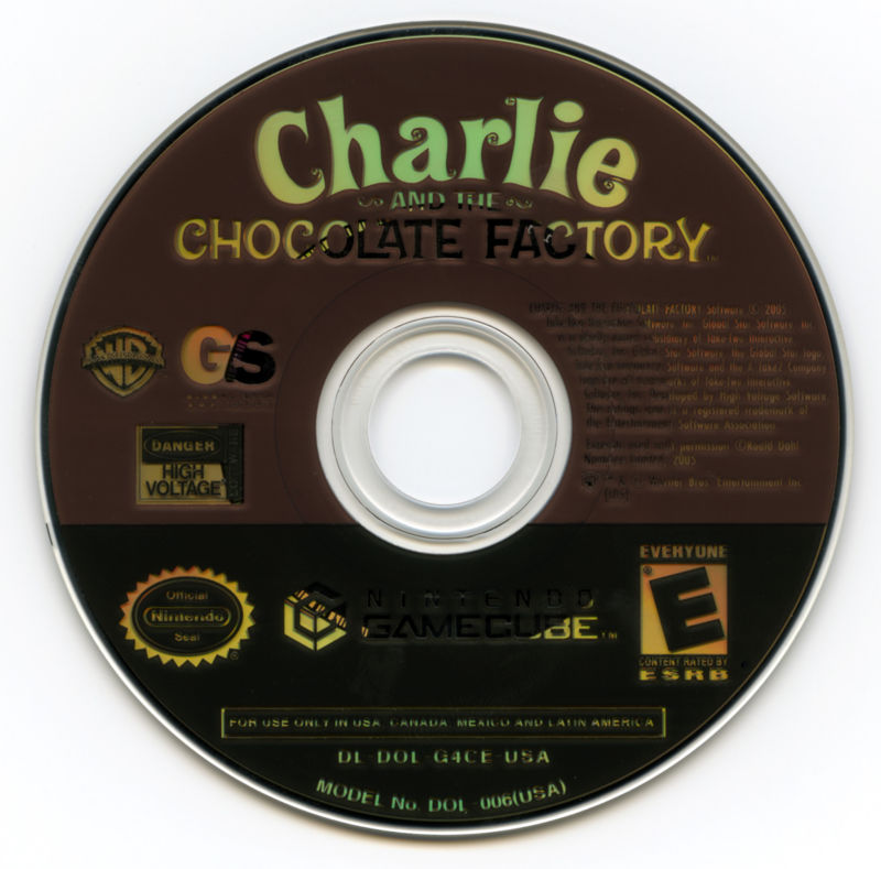Charlie and the Chocolate Factory GameCube Media