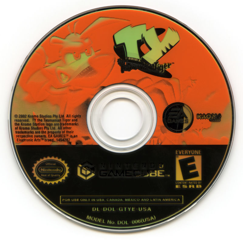 Ty the Tasmanian Tiger GameCube Media