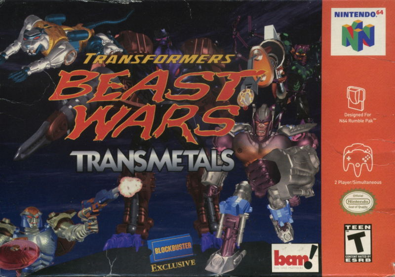 Transformers: Beast Wars Transmetals Nintendo 64 Front Cover