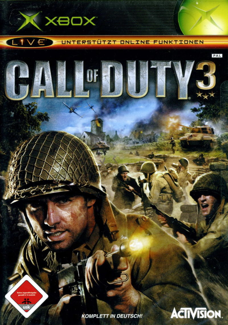 Call of Duty 3 Xbox Front Cover