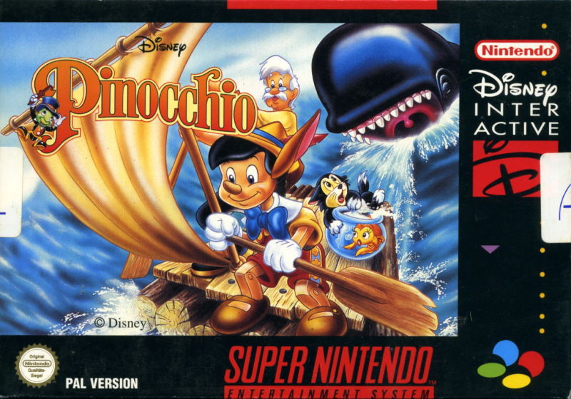 Pinocchio SNES Front Cover
