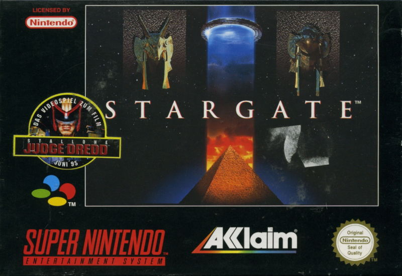 Stargate SNES Front Cover