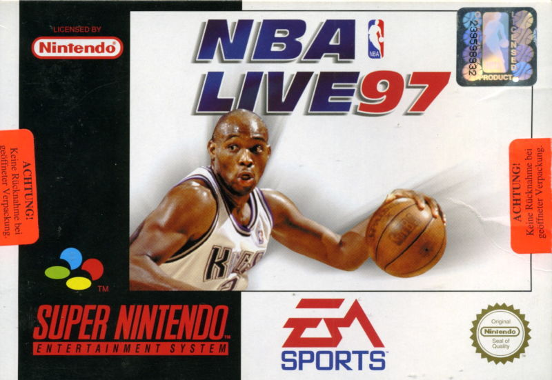 NBA Live 97 SNES Front Cover