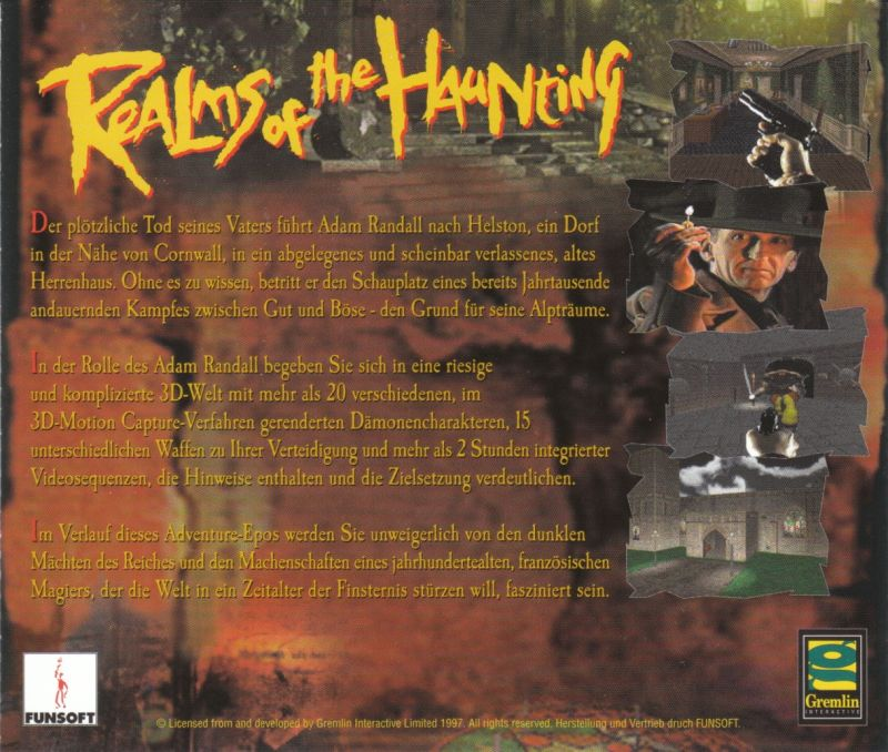 Realms of the Haunting DOS Other Jewel Case - Back