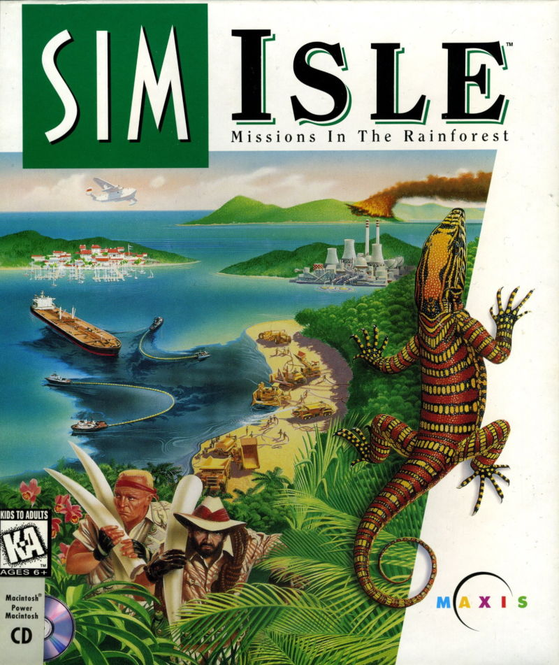 SimIsle: Missions in the Rainforest Macintosh Front Cover