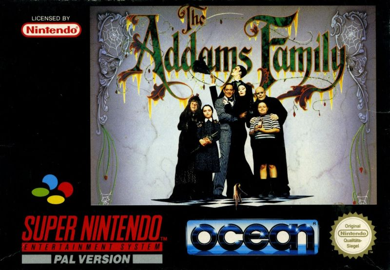 The Addams Family SNES Front Cover