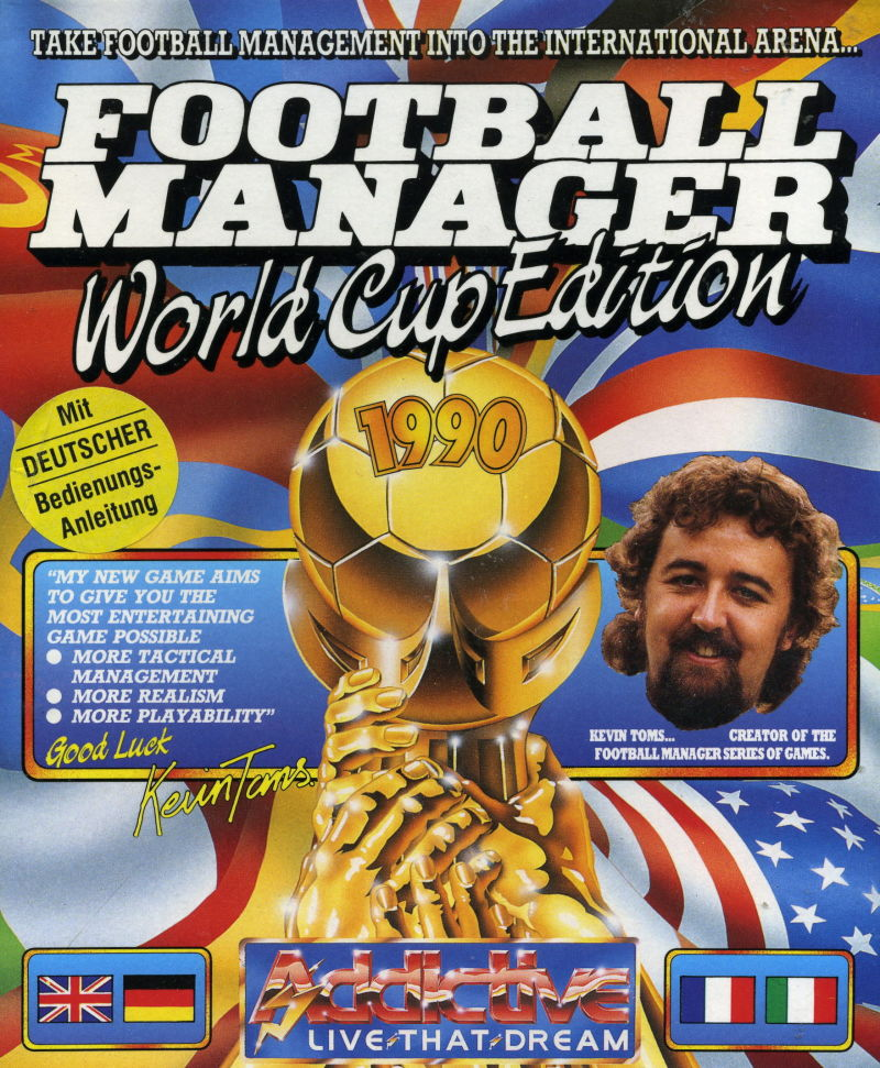 Football Manager: World Cup Edition 1990 Commodore 64 Front Cover
