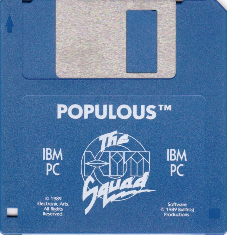 Populous / Populous: The Promised Lands DOS Media Populous Disk