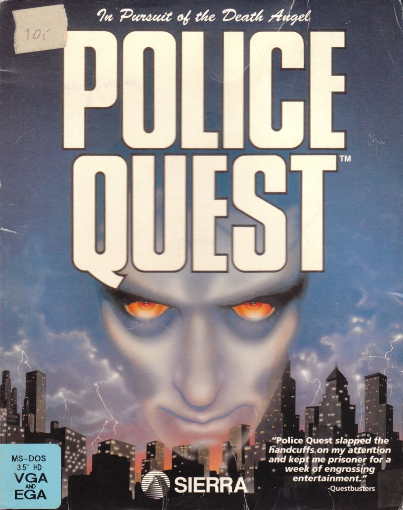 Police Quest: In Pursuit of the Death Angel DOS Front Cover