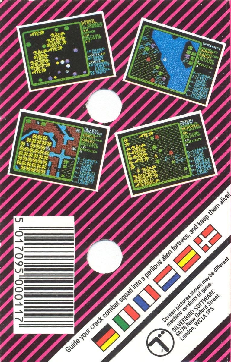Rebelstar II: Alien Encounter ZX Spectrum Back Cover