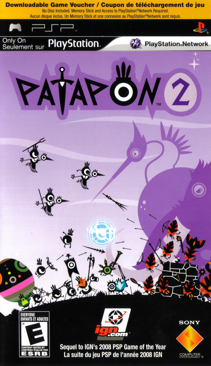 Patapon 2 PSP Front Cover
