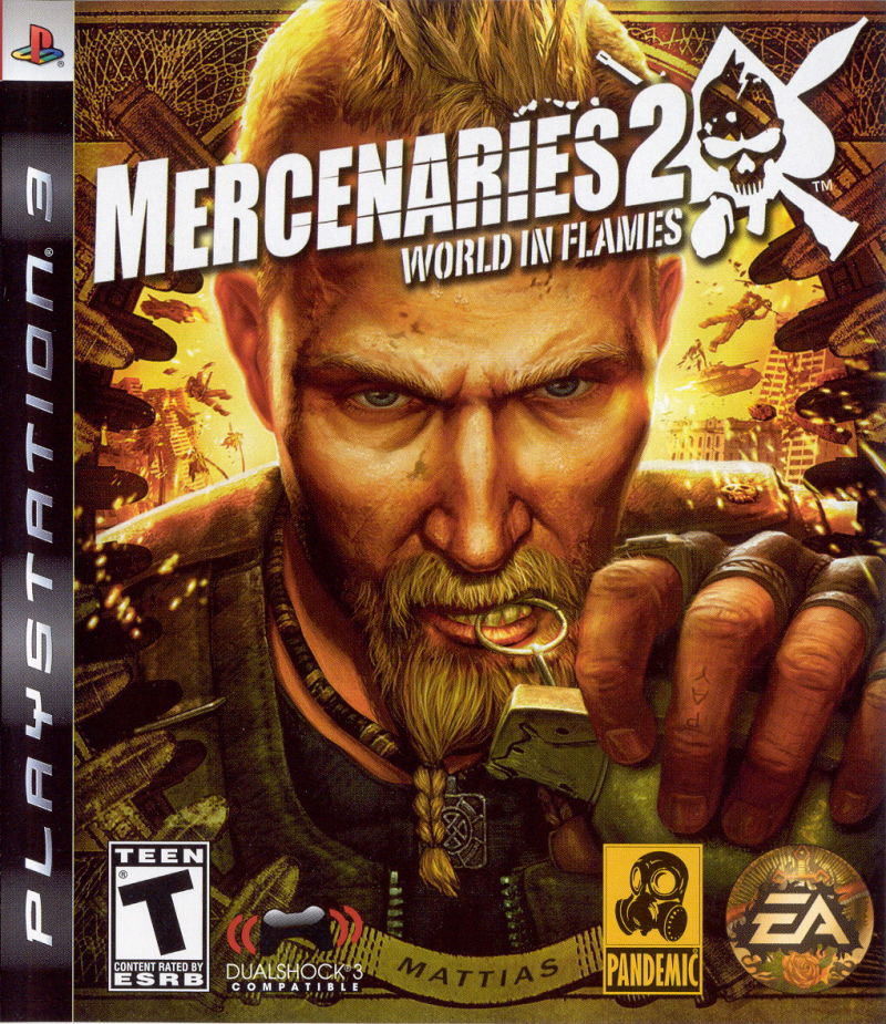 Mercenaries 2: World in Flames PlayStation 3 Front Cover