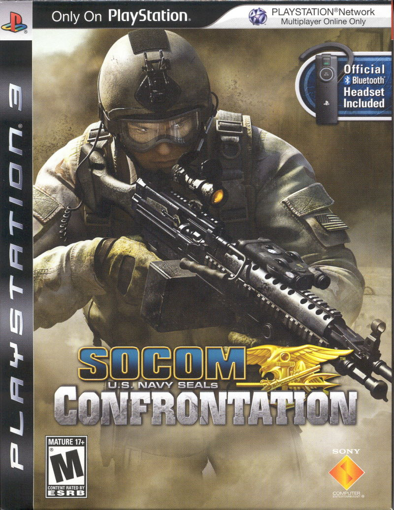 SOCOM: U.S. Navy SEALs - Confrontation PlayStation 3 Front Cover