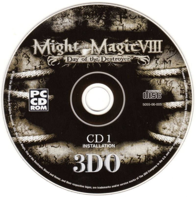 Might and Magic VIII: Day of the Destroyer Windows Media Disc 1 - Installation