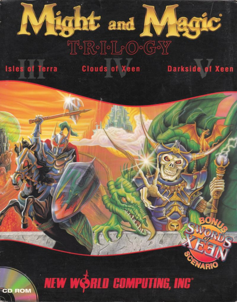 Might and Magic Trilogy DOS Front Cover