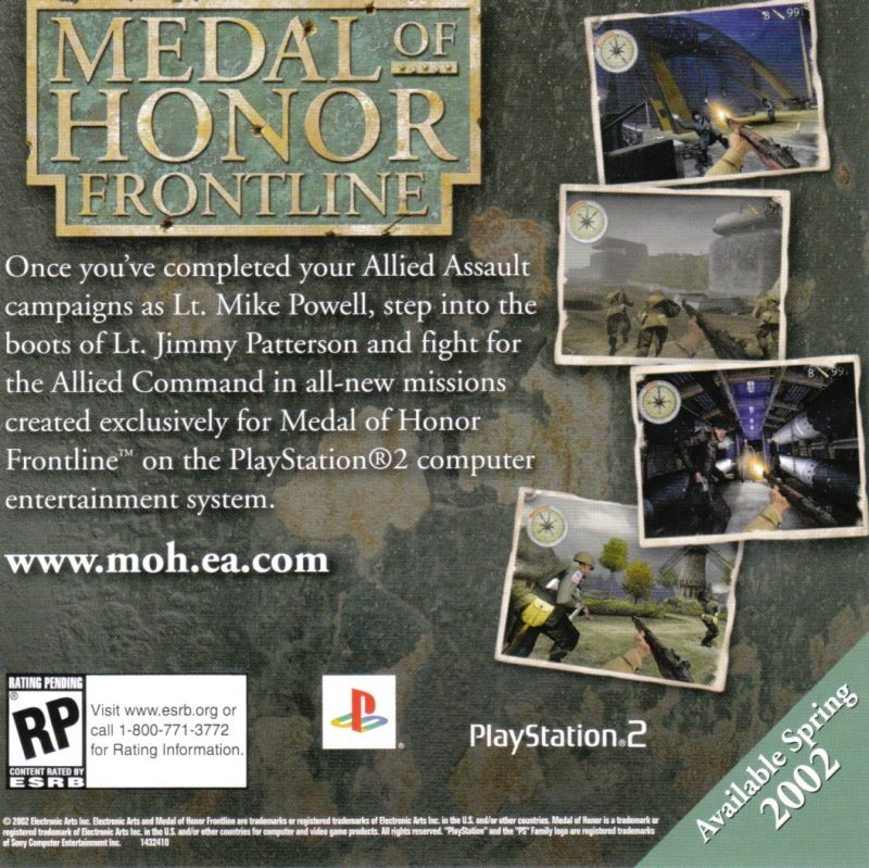 Medal of Honor: Allied Assault Windows Other Jewel Case - Front Inlay