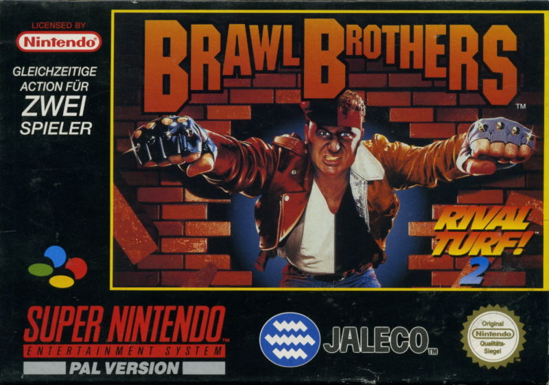 Brawl Brothers SNES Front Cover