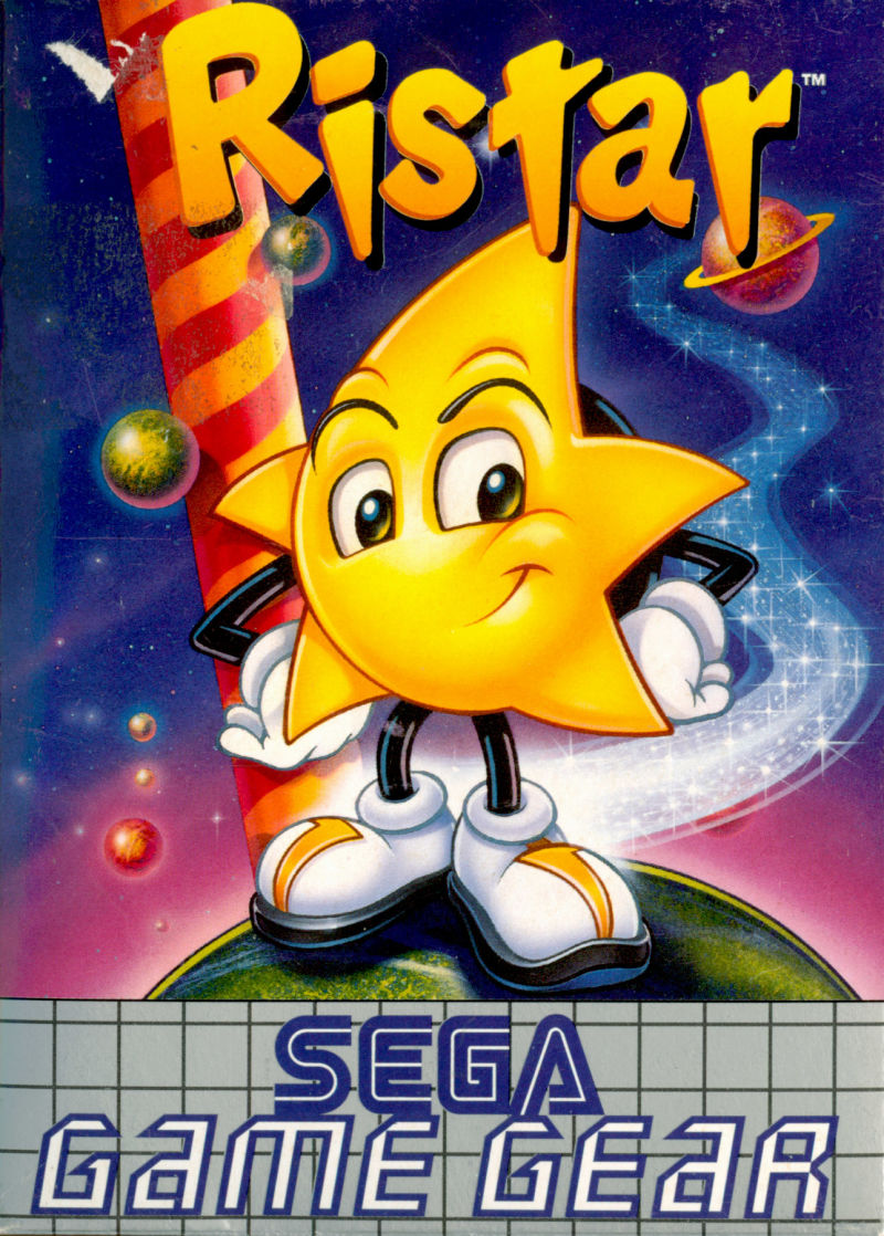 ristar 1994 game gear box cover art mobygames