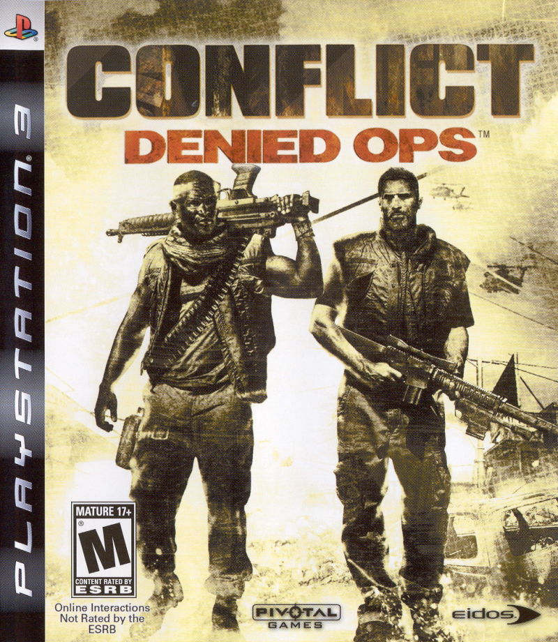 Conflict: Denied Ops PlayStation 3 Front Cover